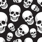 schwarzen und weißen Schädel nahtlose Muster