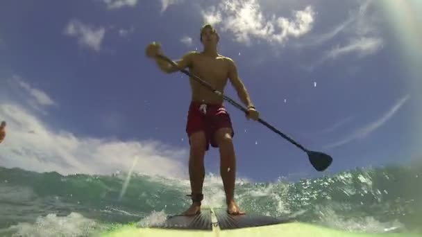 POV Stand Up Paddle Surfing
