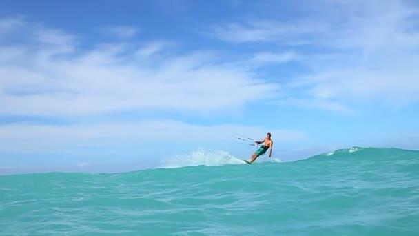 Extreme Kite Surfing In Ocean