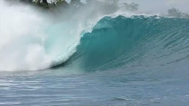 lassú mozgás kék óceán hullám