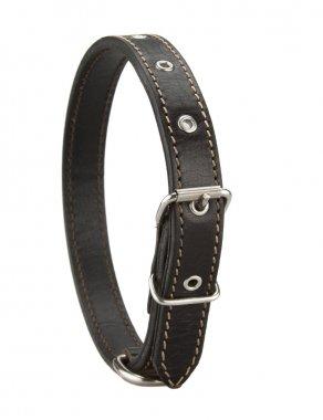 black leather dog collar