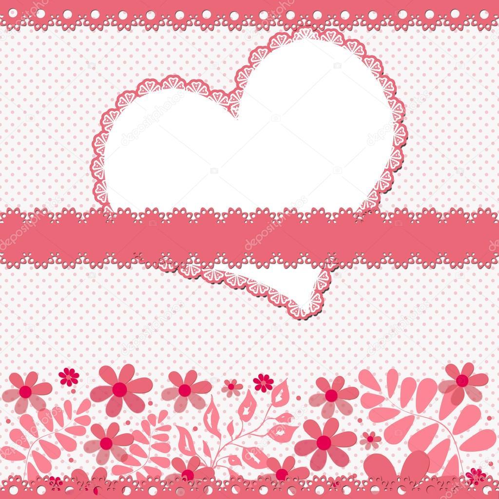 Valentinskarte Mit Herz Rahmen Text U2014 Stockfoto #37729119