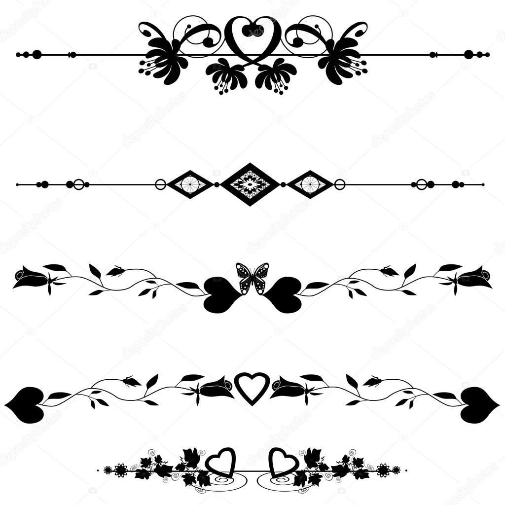 éléments de dessin calligraphique page décoration — Photographie