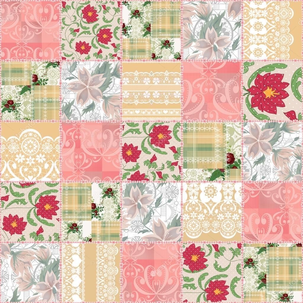 Patchwork seamless pattern texture background