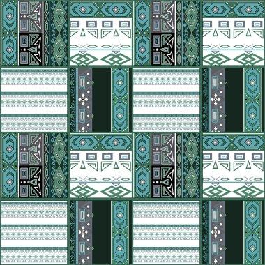 Patchwork seamless geometric folk pattern texture
