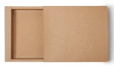 Empty kraft paper box
