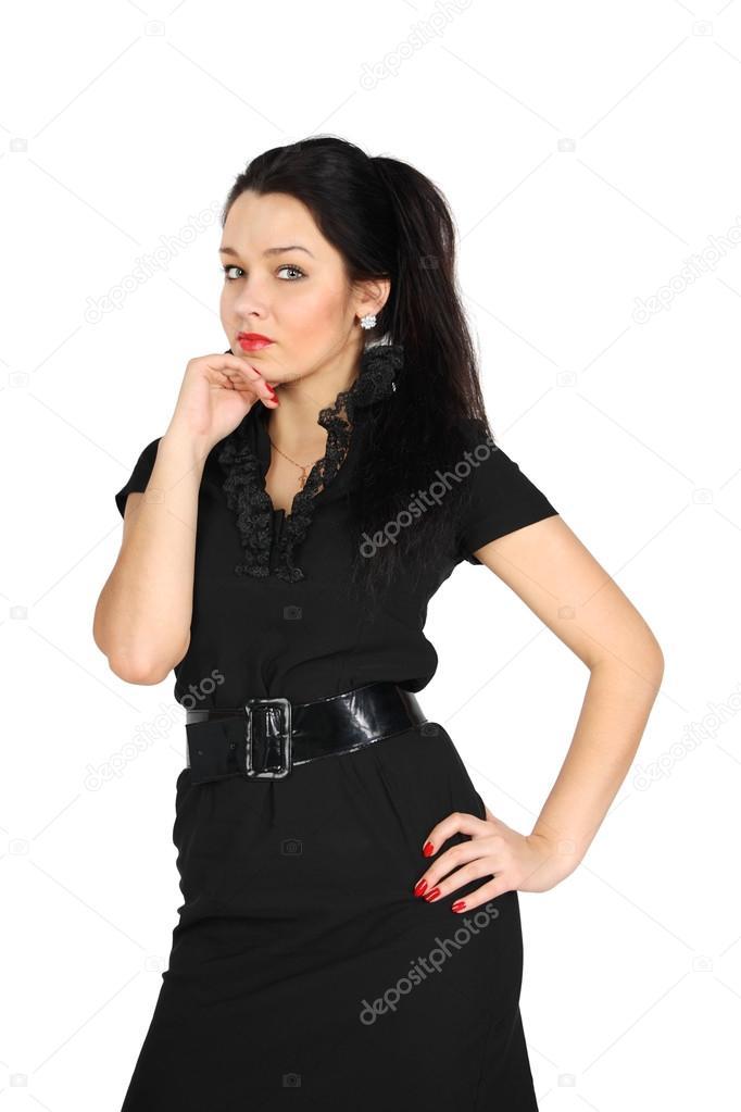 Vestido negro corto para nina