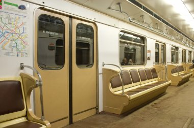 Empty the Moscow subway train