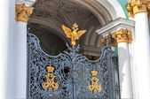 Fotografie uzavřené brány do Zimní palác (Ermitáž) v st petersburg, Rusko