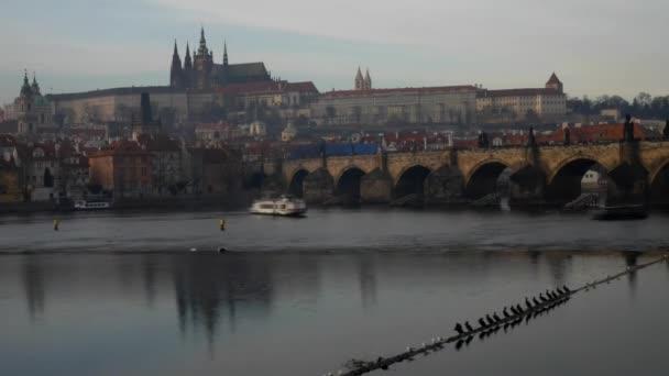 pohled na Karlův most a svatého Víta, časová prodleva