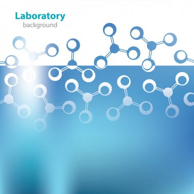 Abstract light blue medical laboratory background.