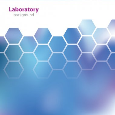 Abstract blue medical laboratory background.