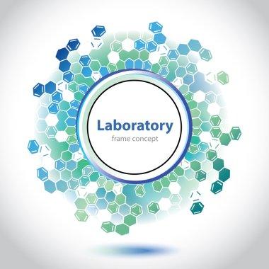 Abstract sea-green medical laboratory circle element.