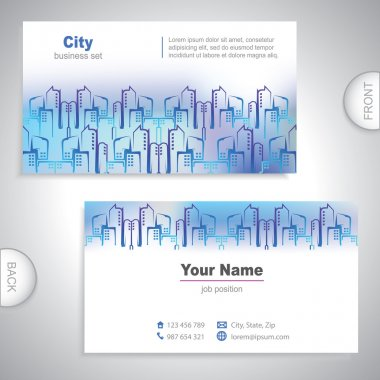 Universal city buildings business card.