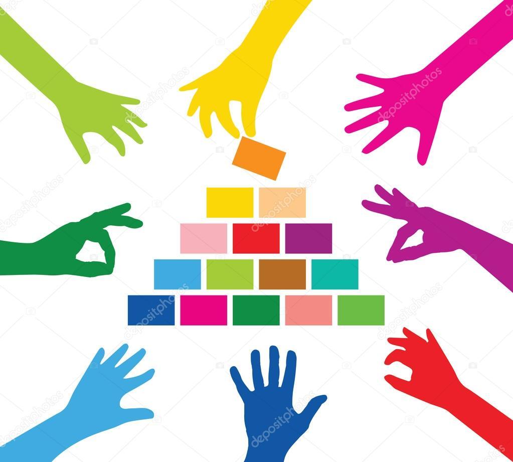 Symbole Team Building