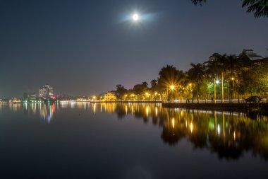 Full moon at West lake, Hanoi, Vietnam