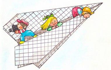 Children in plane