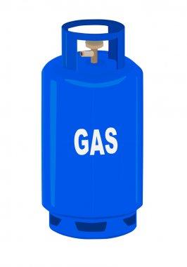 Gas cylinder.