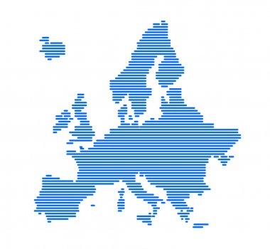 Europe silhouette.