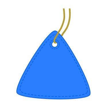 Triangle blue tag.