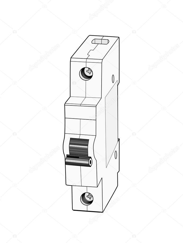 circuit breaker   u2014 stock vector  u00a9 lucaso  48609419