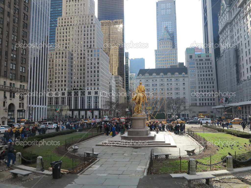 WT Sherman Bronze Statue At 59th Street Near Central Park In New York City Stock