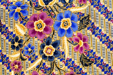 popular batik sarong pattern background in Thailand, traditional