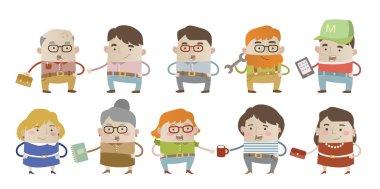Origilan cartoon characters