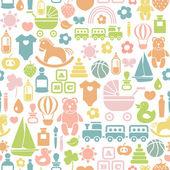 Fotografie nahtlose Muster mit bunten Baby-Ikonen