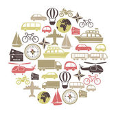 Photo Vector card with transport icons