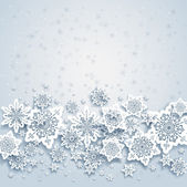 Photo Abstract background with snowflakes