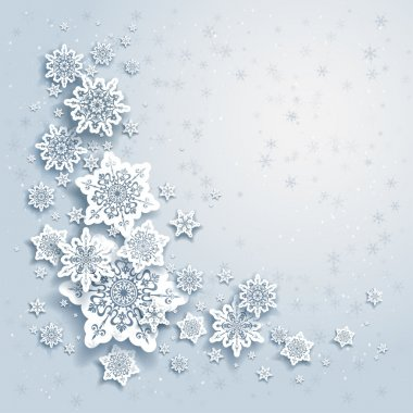 Winter background with snowflakes stock vector
