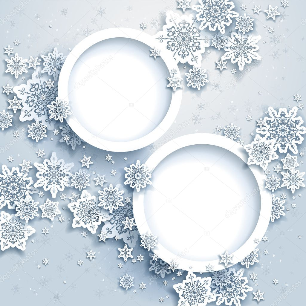 Abstract winter design with snowflakes