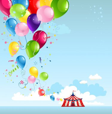 Circus tent and balloons