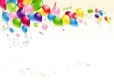 Festive balloons background stock vector