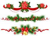 Fotografie Weihnachtsdekoration mit Fichte