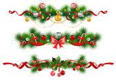 Fotografia decorazione di Natale con albero di abete