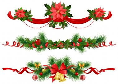 Christmas festive decoration with spruce tree