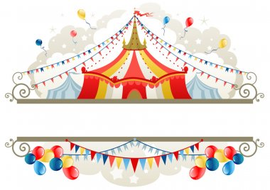 Circus tent frame with space for text stock vector