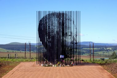 Metal Sculpture Of Nelson Mandela At His Capture Site