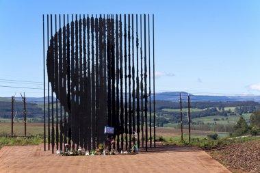 Metal Sculpture of Nelson Mandela at Howick Capture Site