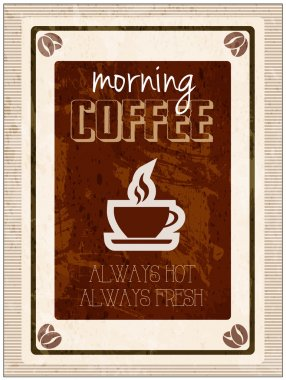 Vector morning coffee vintage design