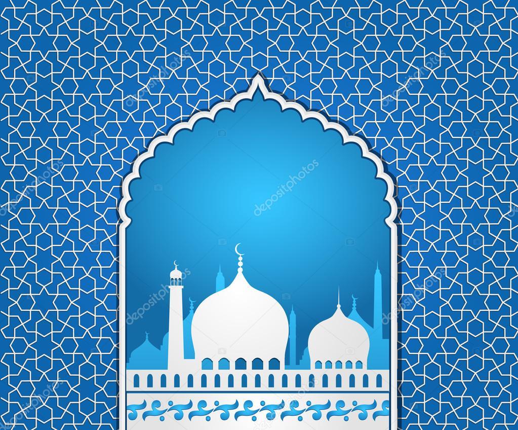 Islamic Mosque — Stock Vector © designtano #50235977