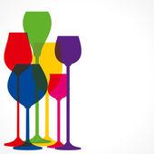 barevné různý tvar vinné sklo vektor