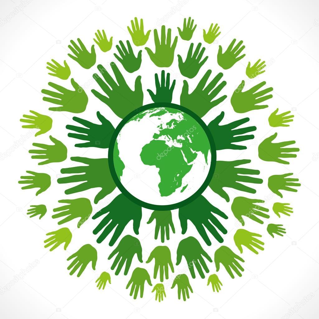 Go green concept or save earth concept vector