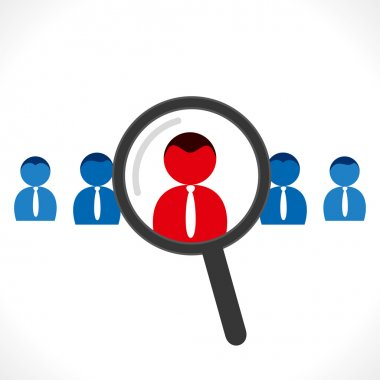 Find right people for job concept vector