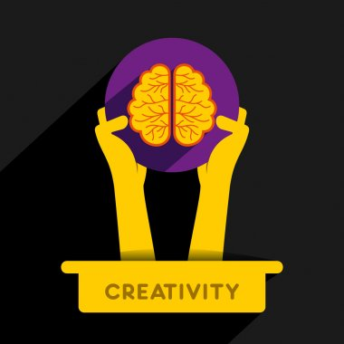 Creative brain icon design concept vector