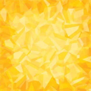 Creative random  triangular pattern yellow background