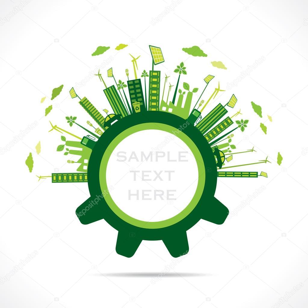 Creative green city design in gear