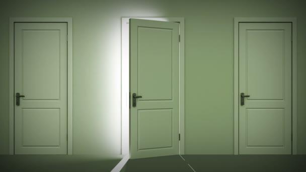 dveře otevírání a zavírání smyčky animace.